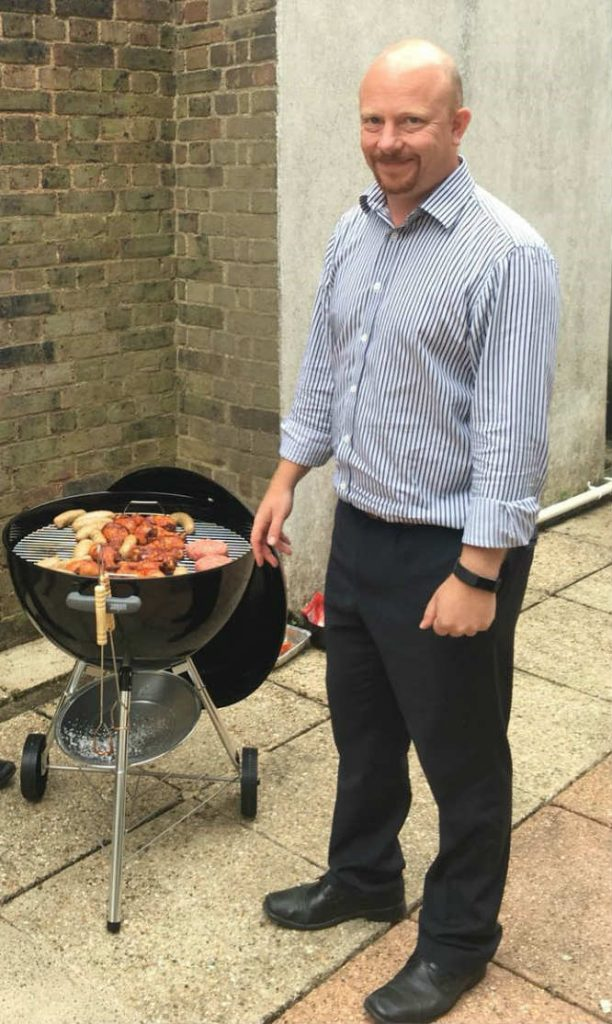 HA Consulting Engineers Director, Jason Stordy cooking up a Friday feast