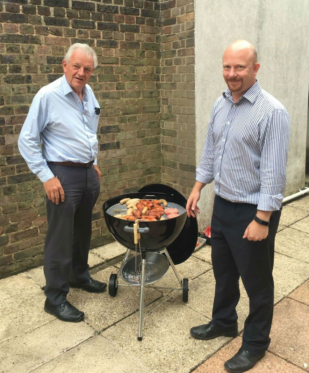 HA Consulting Engineers Directors Jason Stordy and David Chesher cooking up our first summer BBQ